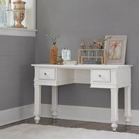 Lake House White Wood Writing Desk
