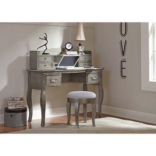 NE Kids Kensington Antique Silver Finish Wood Writing Desk And Hutch Set Gallery