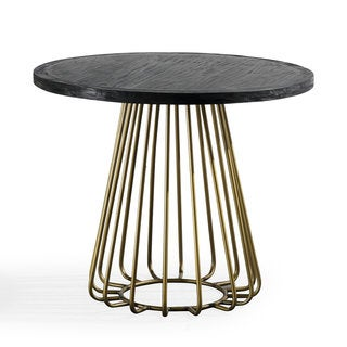 Madrid Black Pine Round Dining Set