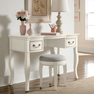 NE Kids Kensington Queen Anne Antique White Writing Desk