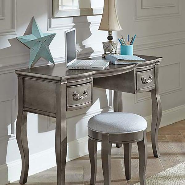 Kensington Silver Wood/Veneer Antique Writing Desk - Shop Kensington Silver Wood/Veneer Antique Writing Desk - Free