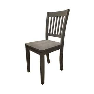 Lake House Grey Wood Chair
