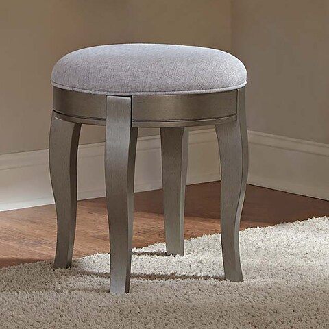Kensington Antique Silver Stool