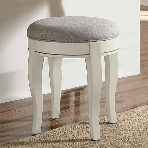 Kensington Antique White Wood/Veneer Stool