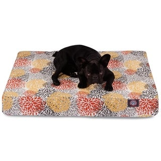 Majestic Pet Citrus Blooms Small Orthopedic Memory Foam Rectangle Dog Bed