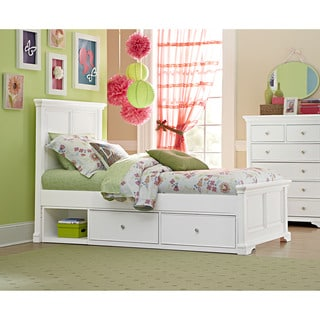 Walnut Street Devon White Twin-size Panel Bed and Trundle