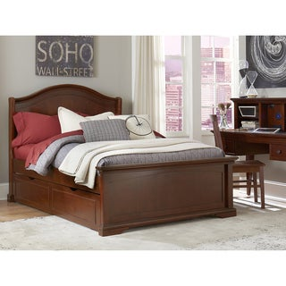 Walnut Street Morgan Chestnut Brown Arched Panel Bed with Trundle