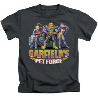 Garfield/Beyond Short Sleeve Juvenile Graphic T-Shirt in Charcoal