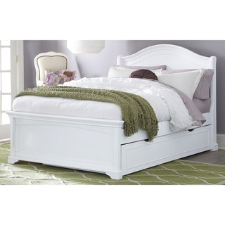 Full Morgan Arch White Bed with Trundle