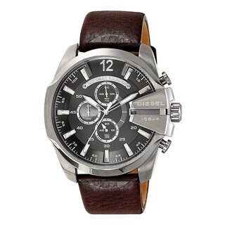 Diesel Men's DZ4290 Chief Brown Leather/Stainless Steel Chronograph Watch
