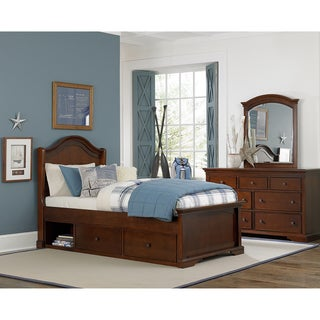 Walnut Street Twin Morgan Arch Bed with Storage Chestnut