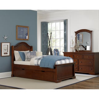 Walnut Street Chestnut Finished Arch Twin-size Trundle Bed