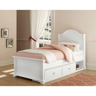 NE Kids Walnut Street Morgan Twin-size White Arch Storage Bed
