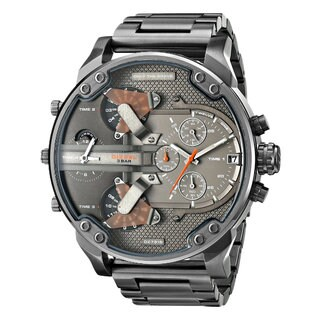 Diesel Men's DZ7315 Mr Daddy Black/Grey Stainless Steel Dual Zone Chronograph Watch