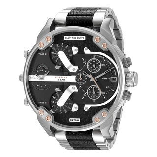 Diesel Men's DZ7349 Mr. Daddy 2.0 2-tone Leather Chronograph 4-time-zone Watch