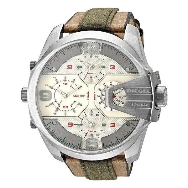 Diesel Men's DZ7375 Chief Round Brown Strap Watch