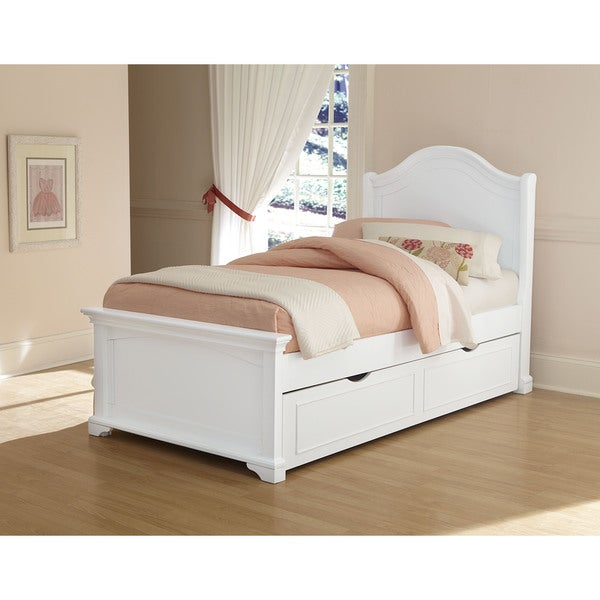 73542e76d3d Shop Walnut Street Twin Morgan Arch White Bed with Trundle White - Free  Shipping Today - Overstock - 12546816