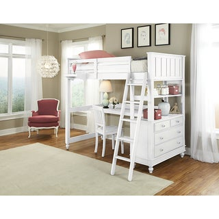 Lake House Full Loft W/ White Desk