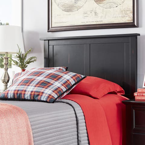 Mercer Mission Transitional Black Panel Headboard by iNSPIRE Q Classic