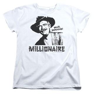 Beverly Hillbillies/Millionaire Short Sleeve Women's Tee in White