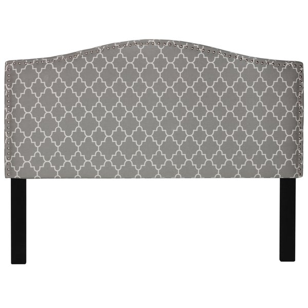 Shop Cortesi Home Lena Grey Upholstered Queen Headboard