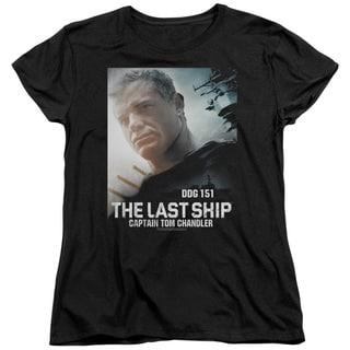 Last Ship/Captain Short Sleeve Women's Tee in Black