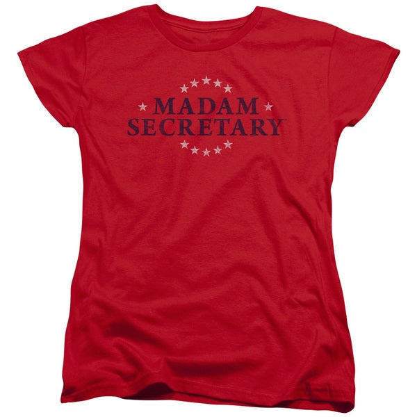 97ea61bef Shop Madam Secretary/Distress Logo Short Sleeve Women's Tee in Red - Free  Shipping On Orders Over $45 - Overstock.com - 12547023