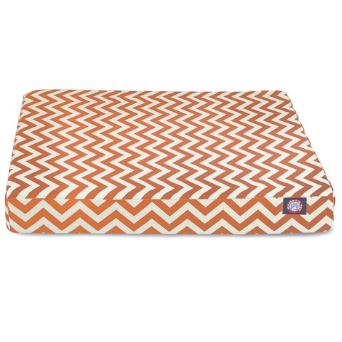 Majestic Pet Chevron Orthopedic Memory Foam Rectangle Dog Bed