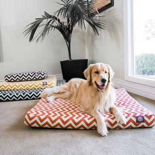 Majestic Pet Chevron Orthopedic Memory Foam Rectangle Dog Bed