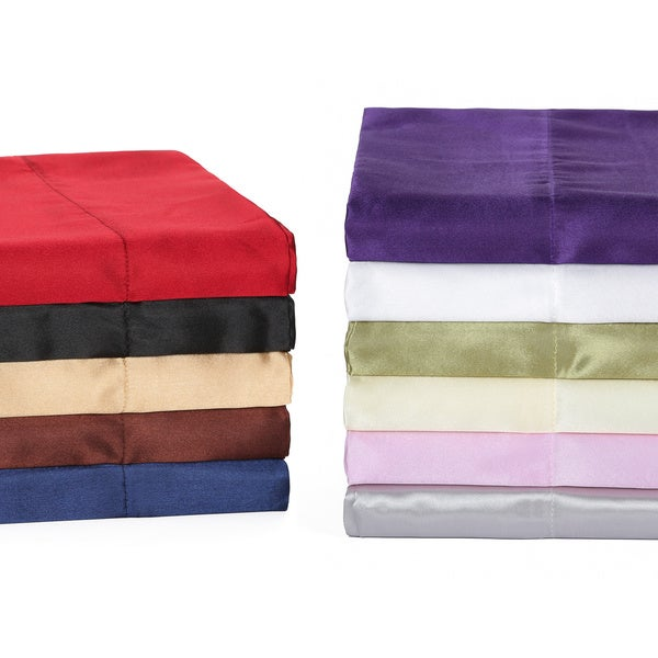 Super Soft Satin Pillowcases Set Of 2 Free Shipping On