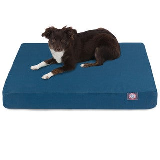 Majestic Pet Solid Orthopedic Memory Foam Rectangle Dog Bed