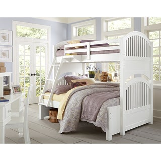 Lake House Adrian Twin Over Full White Bunk
