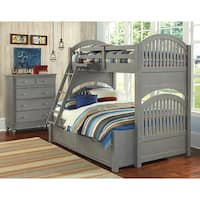 Lake House Adrian Twin over Full Bunk with Trundle-Stone