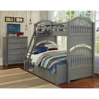 Lake House Adrian Stone Finish Twin over Full Bunk Bed with Storage