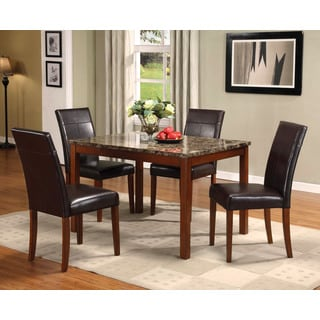 Portland 5-piece Faux Marble Dining Set
