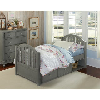 Lake House Adrian Stone Grey Twin Bed with Storage