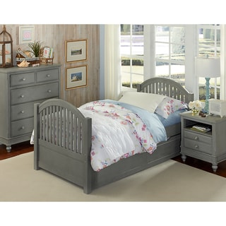 Lake House Adrian Stone Grey Twin-size Bed with Trundle