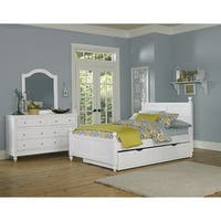 Lake House Kennedy White Full-size Bed with Trundle