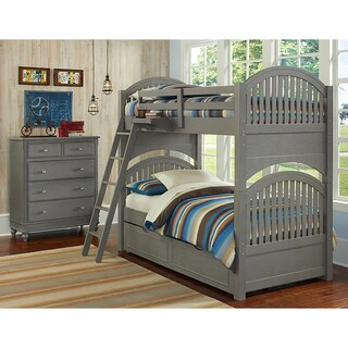 Lake House Adrain Stone Grey Twin-over-twin Bunk Bed with Trundle