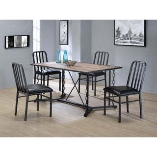 Jodie Black Metal and Polyurethane Cushioned Dining Chairs (Set of 2)