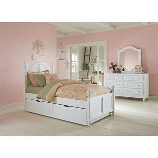 Pine Ridge Arched White Trundle Bed With Drawers Free