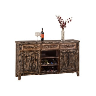 Hillsdale Furniture Florent Blackwash Storage Sofa Table