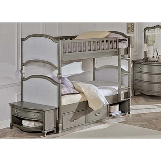 Kensington Victoria Antique Silver Twin-over-twin Bunk with Storage
