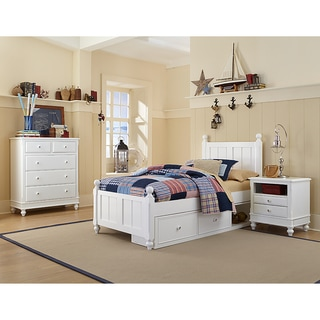 Lake House Kennedy Twin Bed with Storage in white