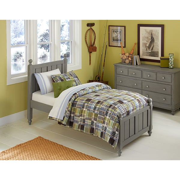 Shop Lake House Kennedy Stone Grey Twin Size Panel Bed