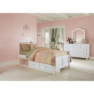 NE Kids Lake House Payton White Arch Twin Storage Bed