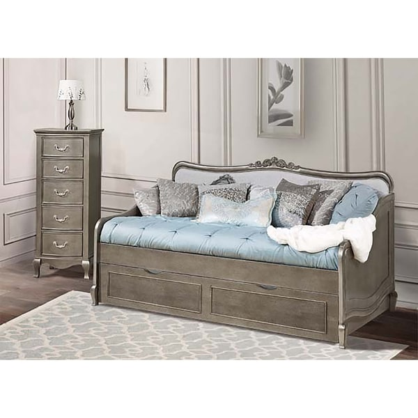Kensington Elizabeth Antique Silver Daybed with Trundle - Kensington Elizabeth Antique Silver Daybed With Trundle - Free