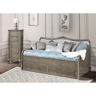 Kensington Elizabeth Antique Silver Daybed with Trundle