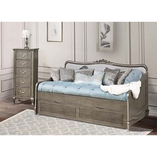 Kensington Elizabeth Antique Silver Daybed with Trundle. Silver  Antique Furniture   Shop The Best Brands Today   Overstock com