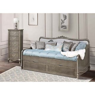 Kensington Elizabeth Antique Silver Daybed with Trundle|https://ak1.ostkcdn.com/images/products/12547217/P19349520.jpg?impolicy=medium
